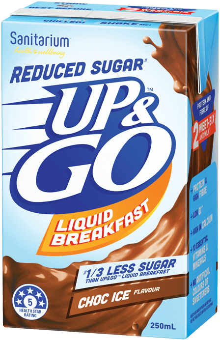 UP&GO Reduced Sugar Choc Ice